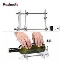 Realmote-Cortador profesional para botellas, máquina profesional para corte de botellas de cerveza o vino, con tamaño 18x15x5cm, color transparente