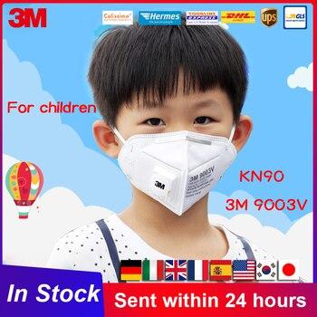 Máscara de niño PM2.5 3M, máscara respirador Anti-polvo con válvula para niño y niño, mascarilla facial anti-pm2. 5 de 9003V, respirador KN90