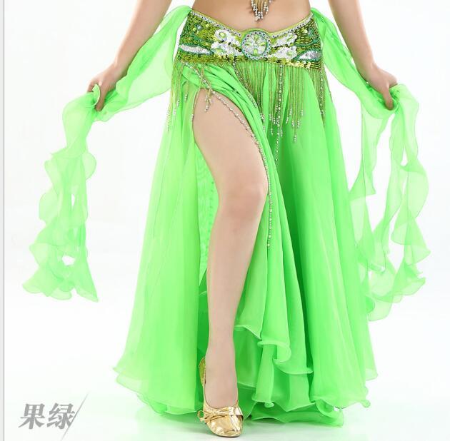 Chiffon Fairy Belly Dance Skirt Belly Dance Costume one Side Split Tribal Skirt