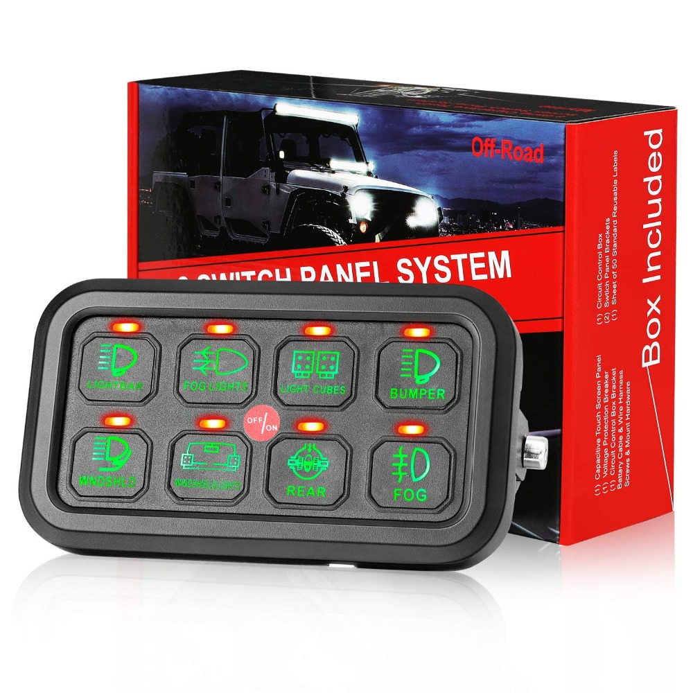 8 gang switch panel electronic relay system with circuit control ...  aliexpress