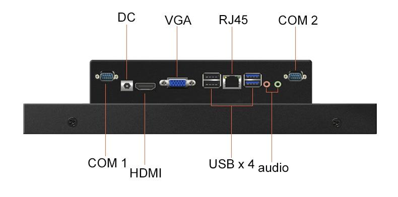 de Computador Industrial PC win7 Sistema I3 4G 32G Incorporado Fixo