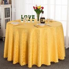 Restaurant Circular Table Cloth Hotel Tablecloth Household Decorative Tablecloth (Yellow)
