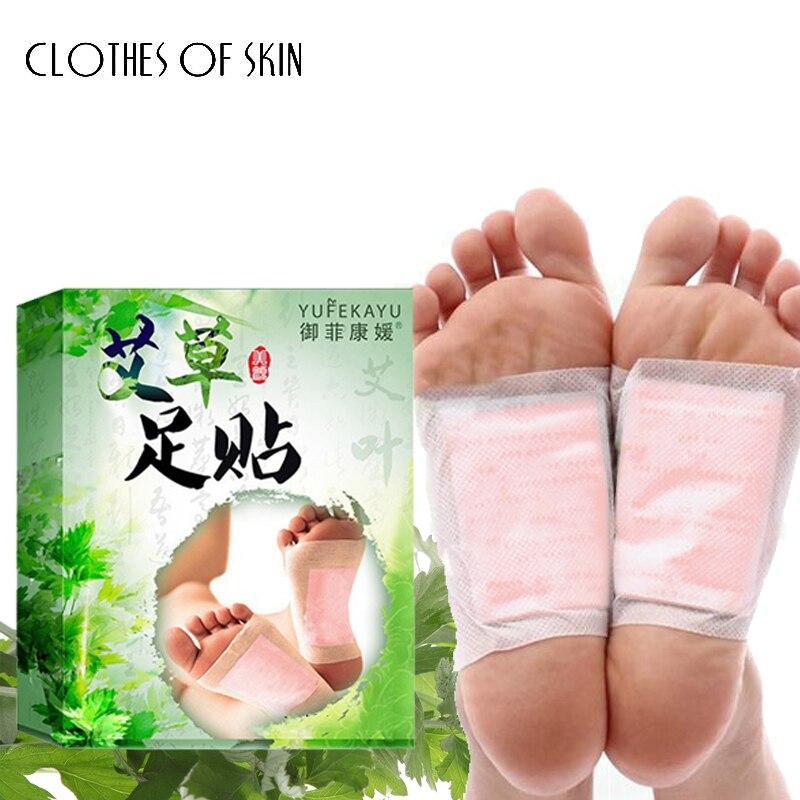 Parches de hierbas Detox para pies, almohadillas de toxinas para pies, limpieza adelgazante, Almohadillas Adhesivas herbales para la salud corporal, 10 uds, ropa para el cuidado de los pies