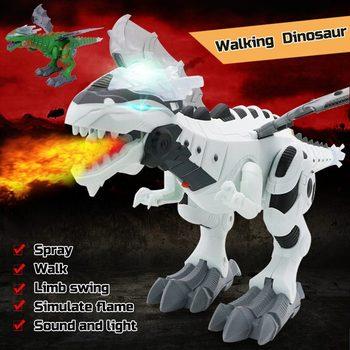 Dinosaurio de juguete electrónico, modelo Walking Dragon, Kit de aerosol de agua para respirar, Robot para niños, modelo de Animal de juguete, juguete con sonido ligero, regalo para niños