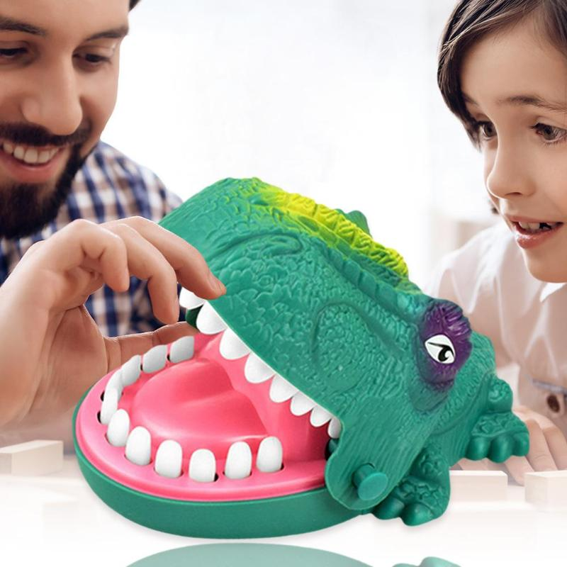Children Early Education Toys Develop Children's Interest Rich Game Content Dinosaur Biting Hand Finger Toys For Family Party