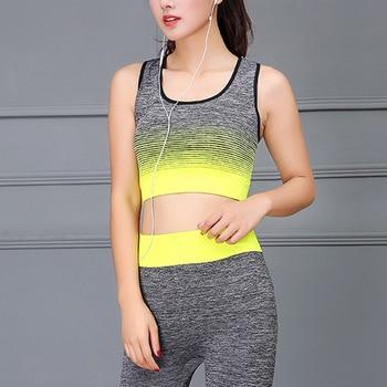 Yoga Set Women Sports Bra Top Leggings Pants Gym Sportswear Fitness Clothing Suit WHShopping 4