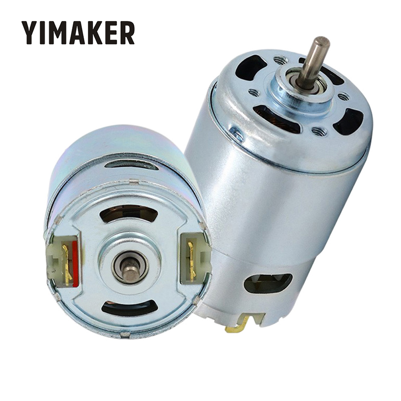YIMAKAER <font><b>895</b></font> <font><b>DC</b></font> <font><b>Motor</b></font> High Torque High Power Generator Ball Bearing <font><b>DC</b></font> 12-24V Low Speed 775 Upgrade <font><b>Motor</b></font> image