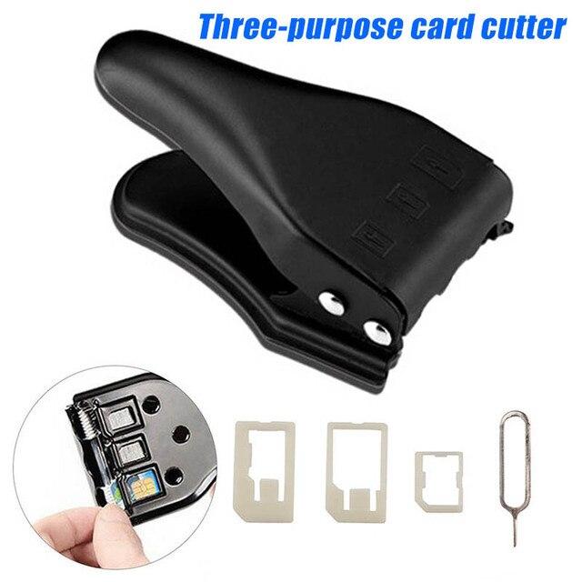 חדש חם 3 ב 1 מיקרו/סטנדרטי כדי Nano SIM כרטיס קאטר כלי עבור Apple iPhone 6/7/8 סמסונג