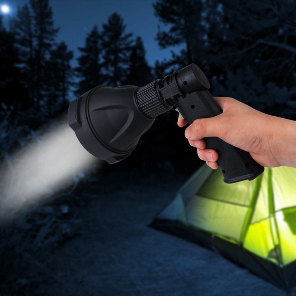 LED Handheld Spotlight Rechargeable Camping Hunting Flashlight Torch Spot Lights