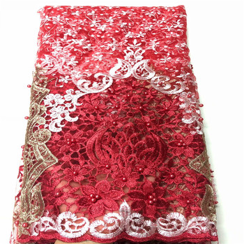 2020 beads Latest Nigeria Swiss Lace High Quality Swiss Voile Laces Switzerland Cotton African Dry Lace Fabric For Man Women