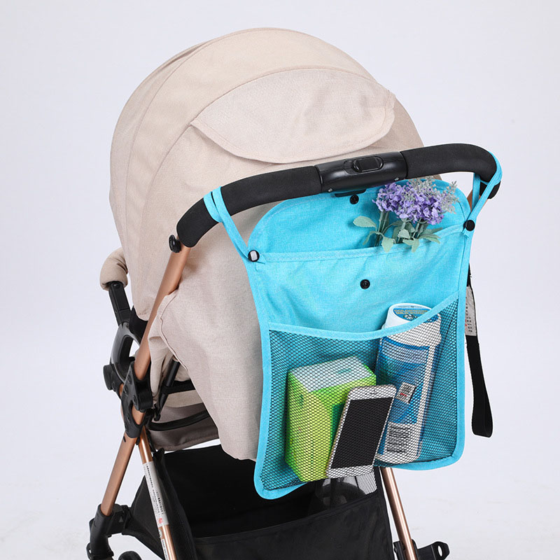 Baby Stroller Organizer Bag Grey Cup Holder Baby Carriage Pram Storage Bottle Bag Net Diaper Nappy Bag Yoya Stroller Accessories