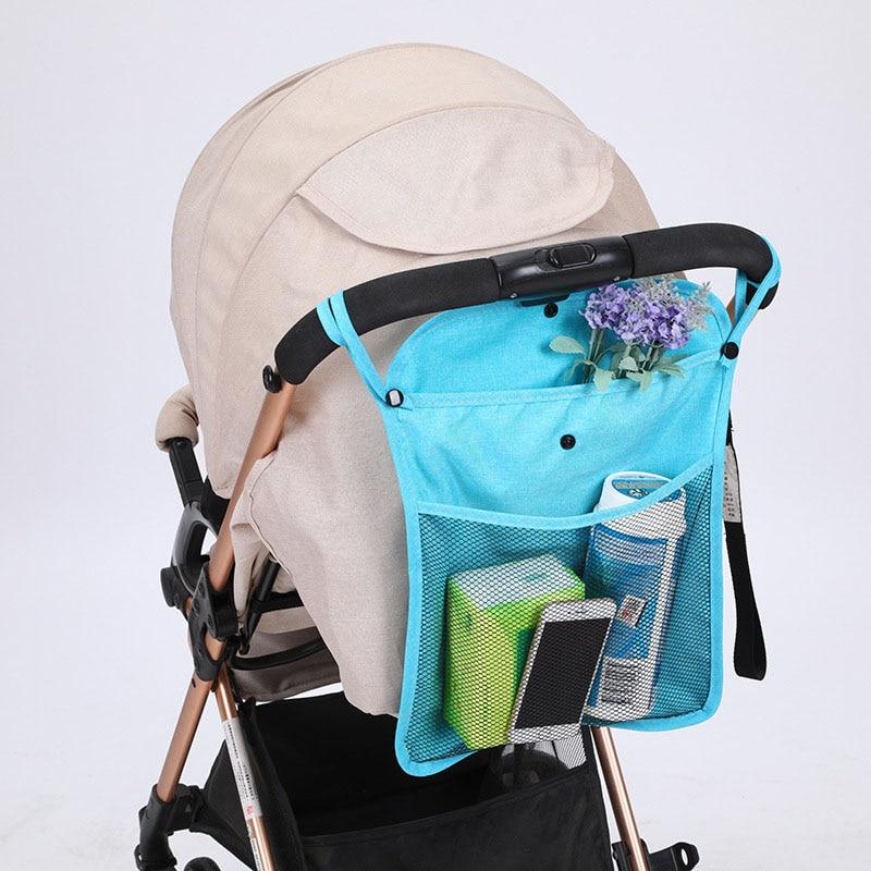 Baby Stroller Organizer Bag Grey Cup Holder Baby Carriage Pram Storage Bottle Bag Net Diaper Nappy Bag Yoya Stroller Accessories