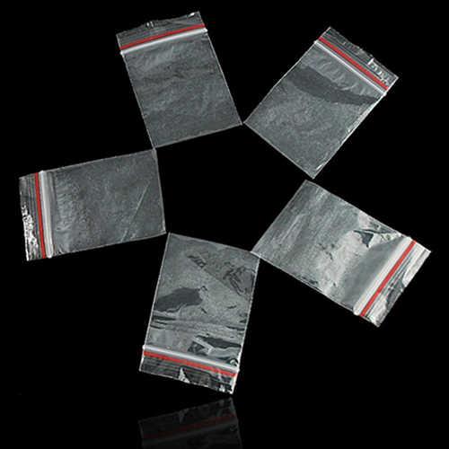 100 יח'\חבילה קטן נעילת מיקוד שקיות פלסטיק Reclosable שקוף תכשיטי/מזון אחסון תיק מטבח חבילה תיק ברור Ziplock תיק