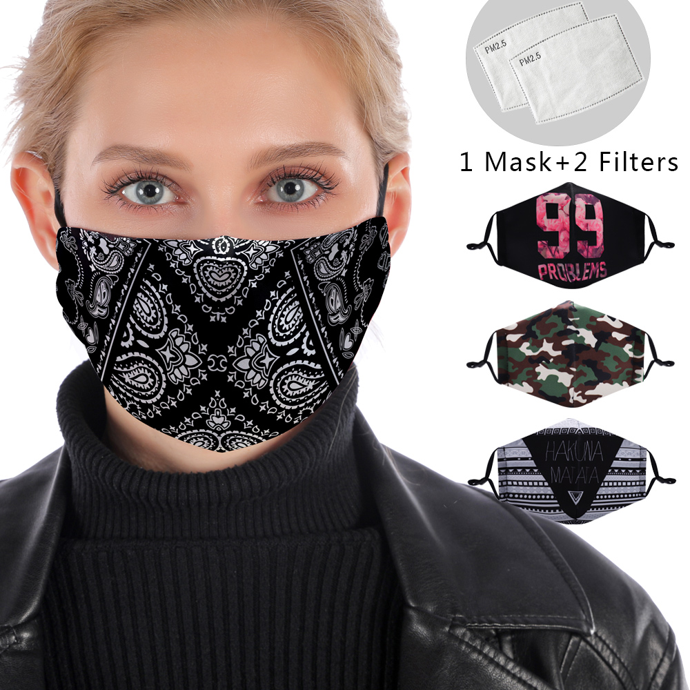 3D Reusable Mouth Mask Washable Protective PM2.5 Filter Mask Anti Dust Face Mask Windproof Mouth-muffle Proof Anti Flu Mask