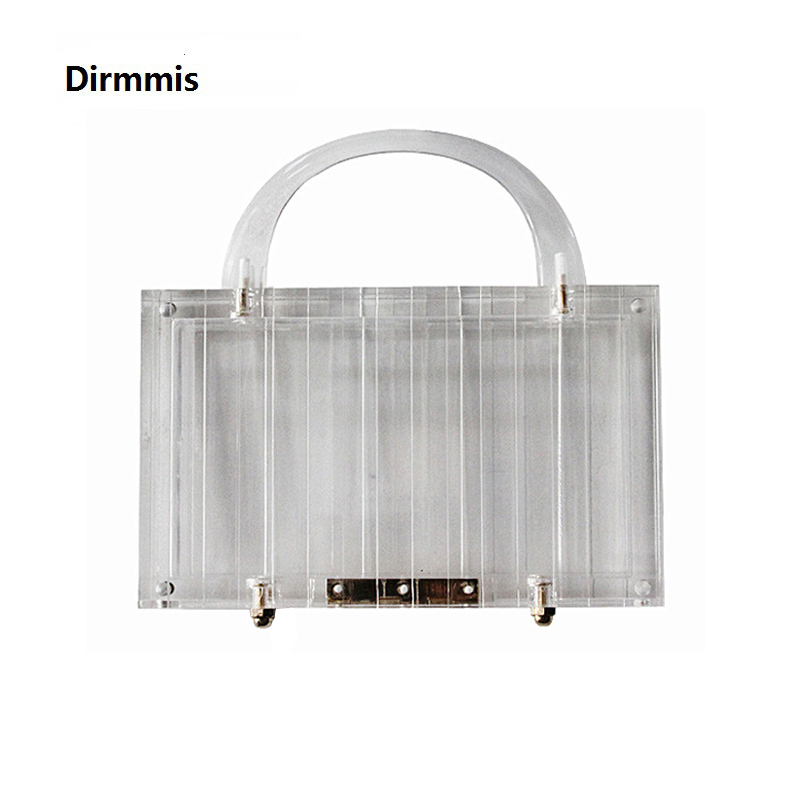 New Trendy Handbag Brand Fashion Women Handbags Transparent Acrylic Luxury Party Prom Evening Bag Woman Casual Box Clear Clutch