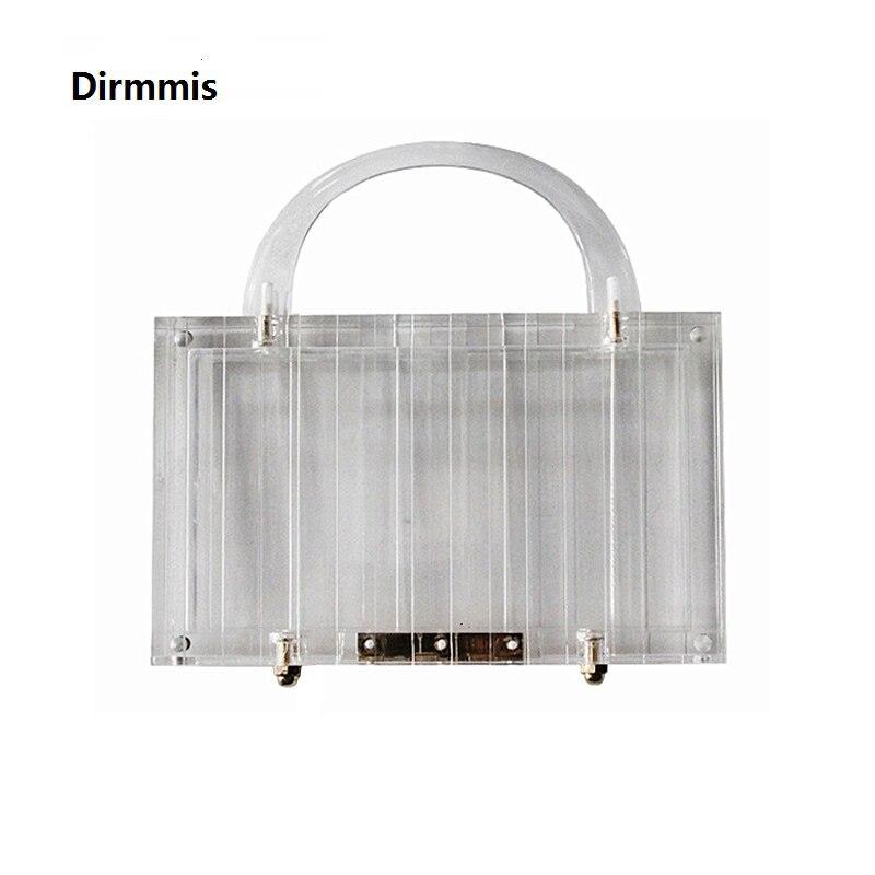 Nouveau sac à main à la mode marque de mode femmes sacs à main Transparent acrylique de luxe fête de bal sac de soirée femme décontracté boîte embrayage clair