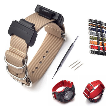 Nylon Watch Band Strap And Conversion Kit for G-Shock GA-110/100/120/150/200/300/400/GD-100/110/120/G-8900/ GW-M5610/DW-6900 1set adapter spring bars tools kit for g shock dw 5600 dw 6900 g 5700 ga 100 kit