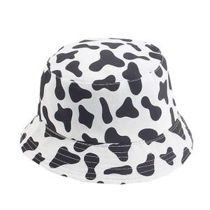 Ins Cute Reversible Black White Cow Print Pattern Bucket Hats Men Women Summer Fishing Hat Two Side Fisherman Cap Travel Sun Cap