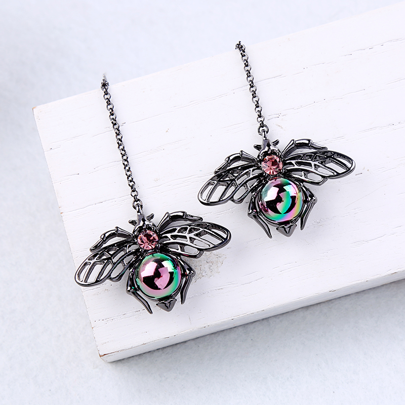 Black Insect Imitation Pearls Drop Earrings 2019 New Pendant Earrings For Women Fashion Jewelry New Arrival