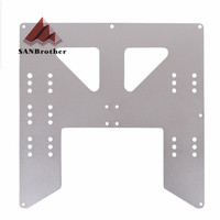 Upgrade Y Carriage Anodized Aluminum Plate For A8 Hotbed Support For Prusa I3 Anet A8 3D Printers|3D Printer Parts & Accessories| |  -
