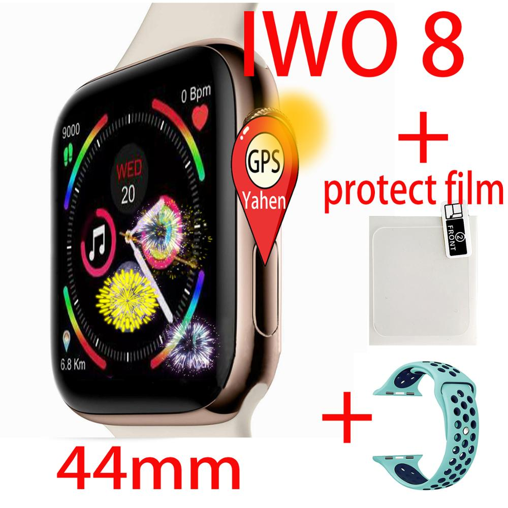 IWO 8 44mm Watch 4 Heart Rate GPS Smart Watch for apple iPhone Android phone better than watch IWO 5 6 7 9 10 11 smartwrist band image
