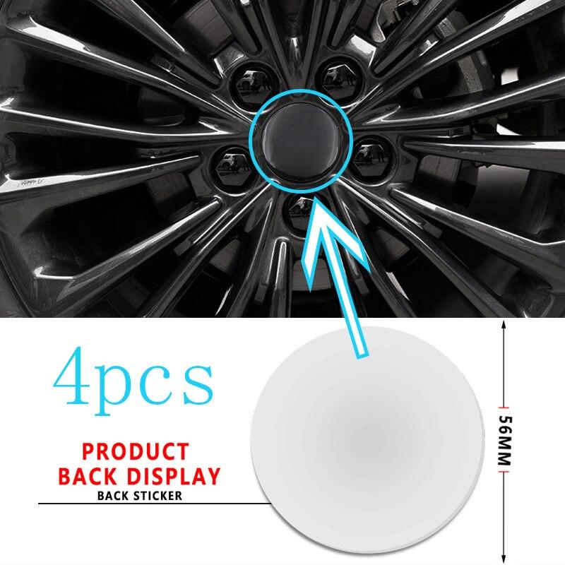 4pcs Emblema Do Centro de Roda Hub Etiqueta Do Carro Auto Decalque para Audi TT B8 8P B6 A6 C7 C6 B7 8V C5 A5 B5 A7 A1 B9 8I S4 S5 S6 S7 S8 A8L