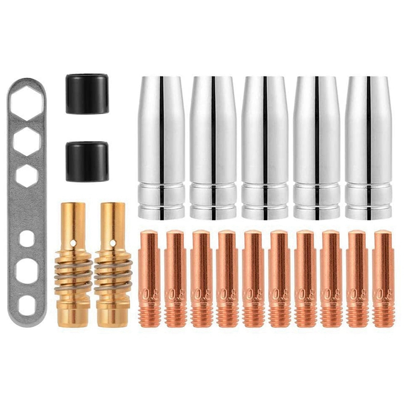 20Pcs Nozzles Contact Tips Holders Mig Welder Consumable Accessory for 15Ak Mb15 Mig  Co2 Welding Torch
