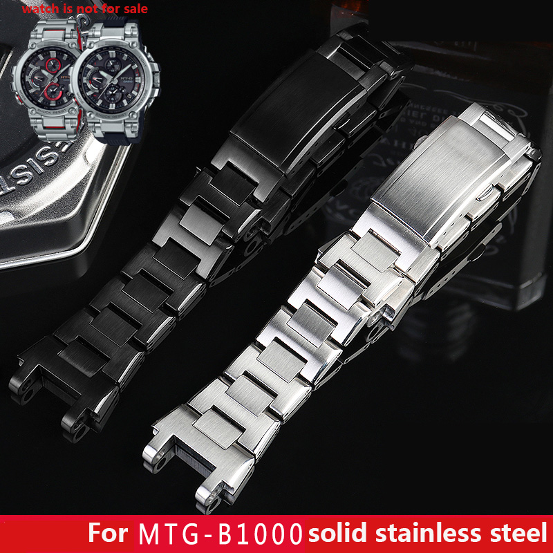 solid stainless steel watch band for <font><b>g</b></font> <font><b>shock</b></font> metal strap MTG-B1000 / MTG-G1000 Bluetooth light kinetic energy image