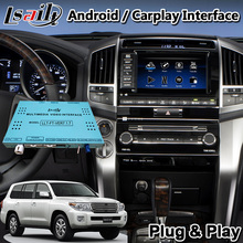 Lsailt Android Video Interface für 2012-2015 Jahr Toyota Land Cruiser LC200 Mit GPS Navigation Können Unterstützung Hinzufügen Carplay