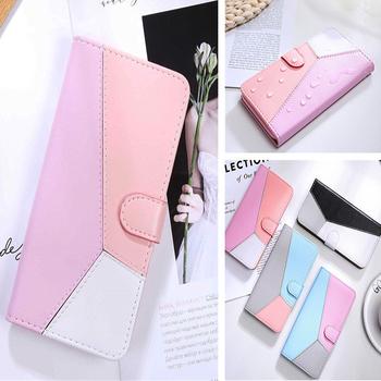 Łączenie etui na telefon do Samsung Galaxy M31S etui do Samsung M 31S M51 M21 M30S M11 M10 skórzane etui z klapką portfel torba tanie i dobre opinie Coatuncle CN (pochodzenie) Tri-color stitching color Book Style Full Protective Mobile Phone Case Zwykły Magnetic Wallet Phone Case