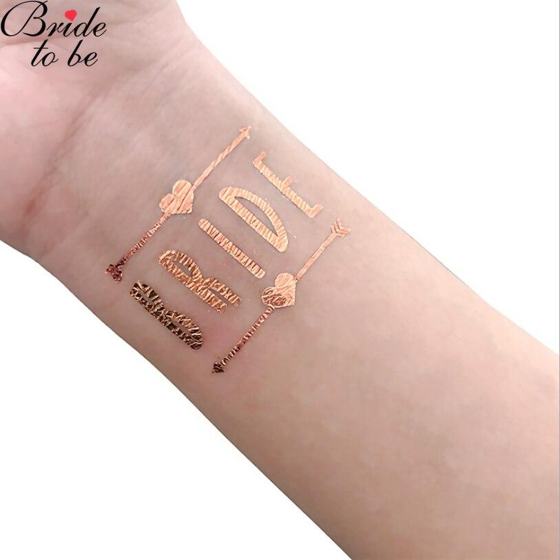 bride to be tattoo sticker (1)