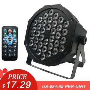 Image 1 - LED Par Lights 36x3W DJ LED RGBW Par Lights RGB Wash Disco Light DMX Controller Effect For Small Paty KTV Stage Lighting