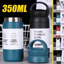 304 Stainless Steel Vacuum Water Bottles With Filter 350ML Portable Vacuum Flasks Cup Thermoses thermo Mug Coffee Soup Thermocup(China)