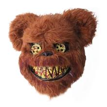 2019 New Bloody Teddy Bear Mask Masquerade Scary Plush Halloween Performance Props Fashion Supplies