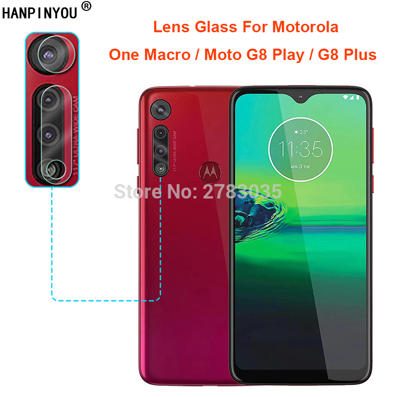 For Motorola One Macro / Moto G8 Play / G8 Plus Back Camera Lens Protector Rear Camera Lens Cover Tempered Glass Protection Film