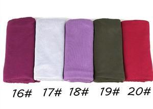 Image 5 - J12 جودة عالية 100% القطن جيرسي الحجاب سيدة شالات طويلة الأوشحة وشاح طويل التفاف عقال 180*80 سنتيمتر 10 قطعة/الوحدة