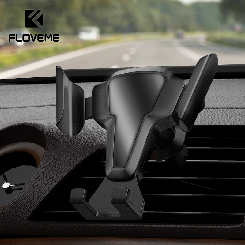 FLOVEME Car Phone Holder Auto-Lock Car Air Vent Clip Mount Mobile Phone Stand No Magnetic Gravity Universal Mobile Phone Holder