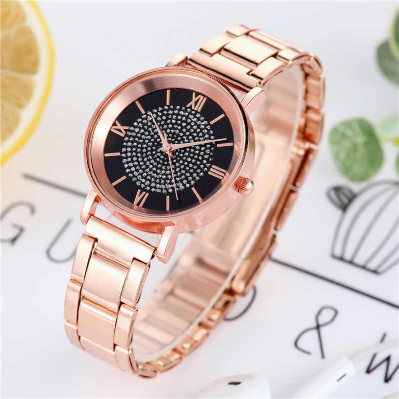1 adet kadınlar saatler lüks elmas gül altın bayanlar bilek saatler manyetik kadınlar bilezik İzle kadın saat bayanlar izle