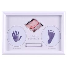 Get more info on the Baby Newborn Hand and Foot Prints Full Moon Hundred Days Infants Commemorative Frame Wooden Photo Frames Gifts