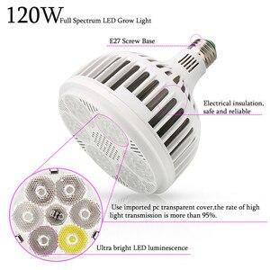 Image 3 - 120ワットフルスペクトルはライト36 leds cob led電球ランプ植物水族館花種子庭の野菜温室E27