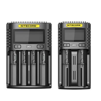 NITECORE UMS2 UMS4 ładowarka USB wyjście 3A do litowo-jonowej Ni-MH NiCd 18650 20700 21700 10500 uniwersalna ładowarka tanie i dobre opinie CN (pochodzenie) Battery Charger 220V