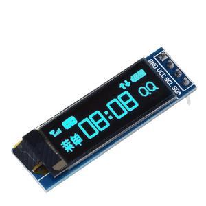 Image 2 - Módulo OLED para ardunio, pantalla LED de 0.91 pulgadas, IIC, comunicación, LCD, 128x32, blanco/azul