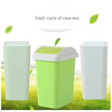 Simple High Quality Press Cover Type Trash Can Bathroom Kitchen Living Office Home Multi-function Multicolor 8L / 12L