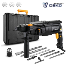 Rotary-Hammer Power-Drill Electric GJ181 DEKO 220V 26mm AC with BMC And Accessories 4-Functions