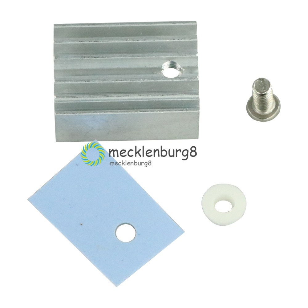 10PCS TO-220 Silver Aluminum Heat Sink Heatsink Regulator / MOSFET With Screws Radiator Heatsink Cooler 20x15x11mm