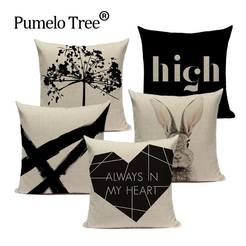 Крутой наволочка для подушки из хлопка и льна в скандинавском стиле, наволочки с изображением дерева и листьев almofadas, квадратные сиденья 45 с...