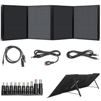 Beaudens przenośna ładowarka solarna 100W typ C QC3.0 USB DC składana ładowarka solarna do smartfonów tablety na laptopa Outdoor