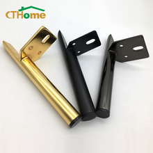 4pcs Legs for Metal Hardware Furniture,Mount Table Chair Sofa TV Bathroom Cabinet Gold Black Support Feet Light Luxury