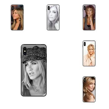 Soft Silicone TPU Black Patterns Jennifer Aniston For iPhone 11 12 Pro Max Plus Pro X XS Max XR 8 7 6S SE 5 5C 5S SE 2020 image