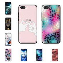 For Huawei Honor 10 Case Ultra-thin Soft TPU Leather Cover Cute Animal Patterned Funda